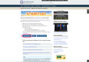 Social Security Website 2